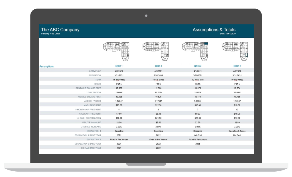 Lease analysis software